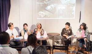 (左から)椎名さん、東野さん、濱見、酒井さん、アサダさん
